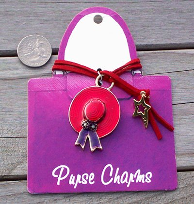Red Hat Purse Charm
