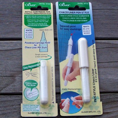 White Chaco Liner Pen Style and Refill for fabric easy marking