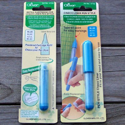 Blue Chaco Liner Pen Style and Refill for fabric easy marking q1