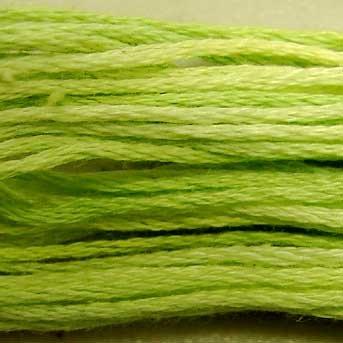 O543 Lime Sherbet - six strand cotton floss Valdani - free ship US CA - q6