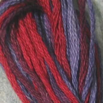 O552 Red Navy - discontinued product - six strand cotton floss Valdani free ship US CA q1