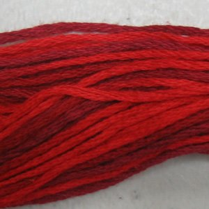 M43 Vibrant Reds - six strand cotton floss Valdani - free ship US CA - q1