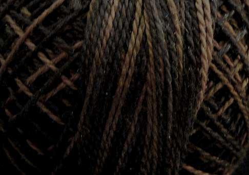 O501 Ebony Almond Three-Strand-Floss ® Valdani 0501 cotton 29yd Free Ship US q6