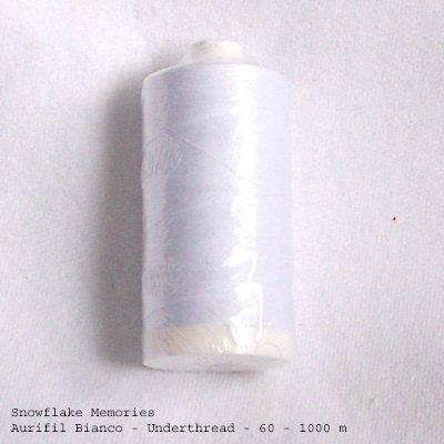 Aurifil bobbin thread underthread white 60 wt 1000 meter q1