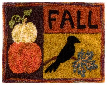 Fall Harvest pattern for Punchneedle Embroidery by Charlotte Dudney q1