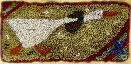 Running Goose pattern for Punchneedle Embroidery by Hooked On Rugs q1