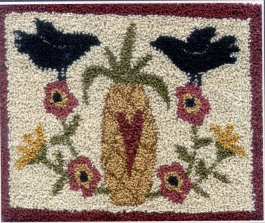 Welcome pattern for Punchneedle Embroidery by Brenda Gervais q1