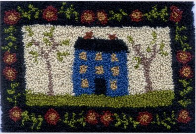 Welcome Home  pattern for Punchneedle Embroidery by Brenda Gervais q1