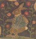 Mr Cotton Tail  pattern for Punchneedle Embroidery by Brenda Gervais q1