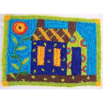 Quilt House pattern for Punchneedle Embroidery by Hooked On Rugs q3