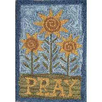 Pray pattern for Punchneedle Embroidery by Hooked On Rugs q1