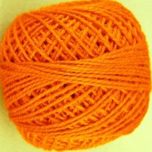 72 Peach Orange  Pearl Cotton size 8  Valdani Solid color q2