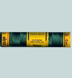 315 Shamrock Green Silk Cucirini from Italy size 24 10m