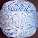 205 Soft Sky Blue  Pearl Cotton size 8  Valdani Solid color q6