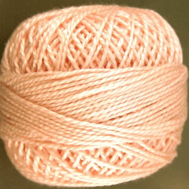 69 Blush  Pearl Cotton size 8  Valdani Solid color q4