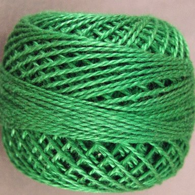 25 Christmas Green  Pearl Cotton size 8  Valdani Solid color q6