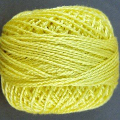 10 Lemon  Pearl Cotton size 8  Valdani Solid color q6
