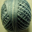 O558 Blue Suave Pearl Cotton size 8  Valdani 0558 Overdyed q3