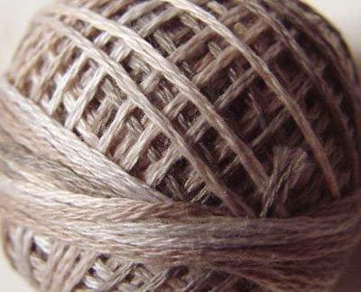 O545 - Primitive White - Pearl Cotton size 8 0545 Valdani Overdyed q6