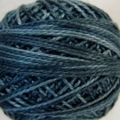 O578 Primitive Blue Pearl Cotton size 8  Valdani Overdyed 0578 q6