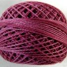 O522 Raspberry Pearl Cotton size 8 0522 Valdani Overdyed q6