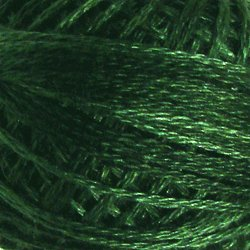 O39 Forest Greens Pearl Cotton size 8  Valdani Overdyed 039 q4