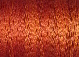 O510 Terracotta Twist 35wt 500m Valdani Overdyed Thread 0510 q1