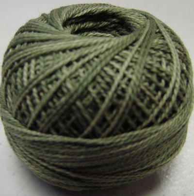 H202 Withered Green Heirloom Collection Valdani  Pearl Cotton size 8 q6