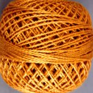 217 Pumpkin Pearl Cotton size 8  Valdani Solid color q6
