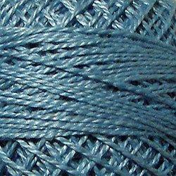 100 Light Denim  Pearl Cotton size 8  Valdani Solid color q6