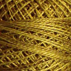 O153 Golden Moss Pearl Cotton size 12  Valdani Overdyed 0153 q6