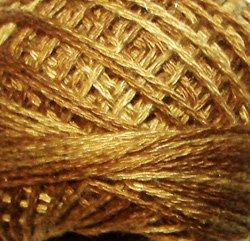 O154 Dark Antique Golds Pearl Cotton size 8  Valdani Overdyed 0154 q6