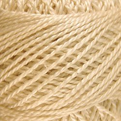 6 Natural  Pearl Cotton size 8  Valdani Solid color q6
