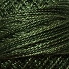 O575 Crispy Leaf Pearl Cotton size 12  Valdani Overdyed 0575 q6
