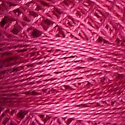 O522 Raspberry Pearl Cotton size 12  Valdani Overdyed 0522 q6