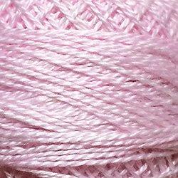 O557 Rose Suave Pearl Cotton size 12  Valdani Overdyed 0557 q6