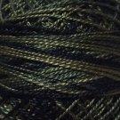 O540 Black Olives  Pearl Cotton size 12  Valdani Overdyed 0540 q6