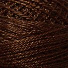 1645 Red Brown Dark  Pearl Cotton size 8  Valdani Solid color q6