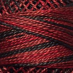 O523 Cherry Basket  Pearl Cotton size 12  Valdani Overdyed 0523 q5