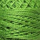 19 Deep Lime - Pearl Cotton size 12 - Valdani Solid color q5
