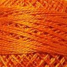 204 Bright Orange Coral - Pearl Cotton size 12 - Valdani Solid color q6