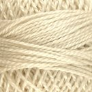 4 Ivory - Pearl Cotton size 12 - Valdani Solid color q6