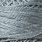 118 Pearl Gray  Pearl Cotton size 12  Valdani Solid color q5