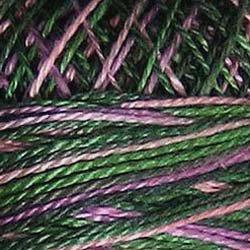 M69 Lilac Bouquet Pearl Cotton size 12  Valdani Variegated q2