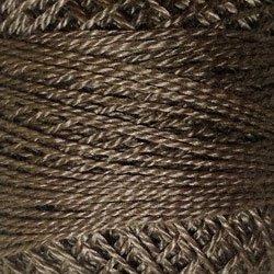 8121 Brown Black Light Pearl Cotton size 8  Valdani Solid color q5