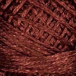 1642 Red Brown Medium Light Pearl Cotton size 8  Valdani Solid color q6