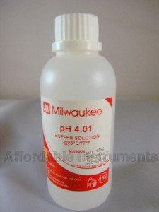 Milwaukee MA9004 pH 4.01 Buffer Solution, 230ml