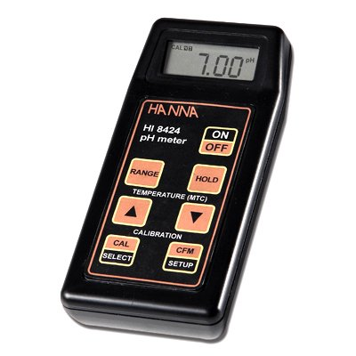 Professional pH meter with auto calibration & temp