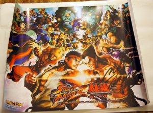 SDCC 2012 Street Fighter X Tekken Promo Poster (Autographed)