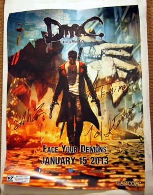 SDCC 2012 Devil May Cry Promo Poster (Autographed)